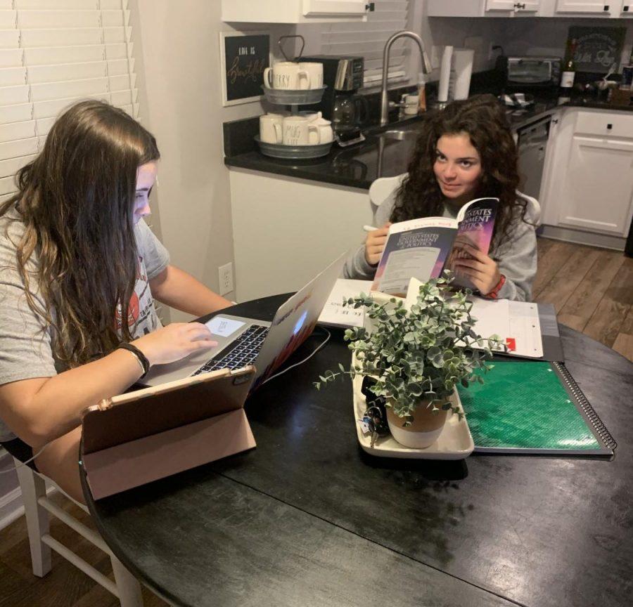 Lili helps Bella study for her AP Gov test