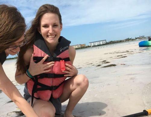 Laurel enjoying the beach this summer.