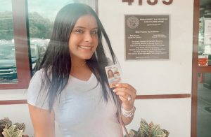 Bryah Walders excited to have her permit after her birthday!
