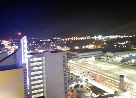 A picture of Daytona at night.