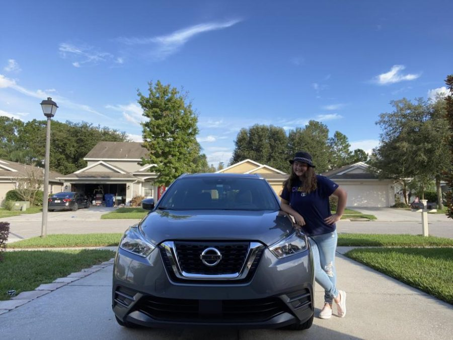 Elle Bouffard with her 2020 Nissan Kicks SV