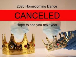 2020 homecoming in canceled due to covid-19.